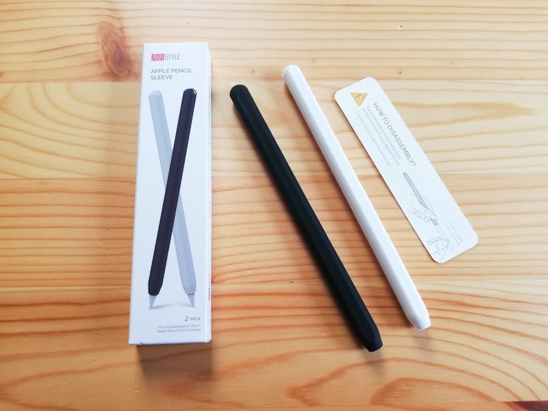 Apple Pencilのシリコン保護ケースの内容物