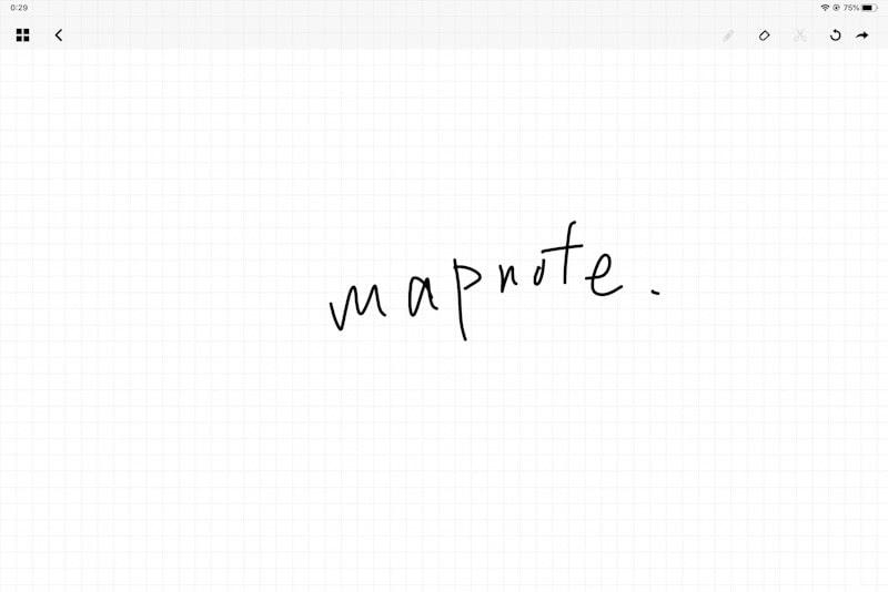 mapnoteのアプリの消しゴム