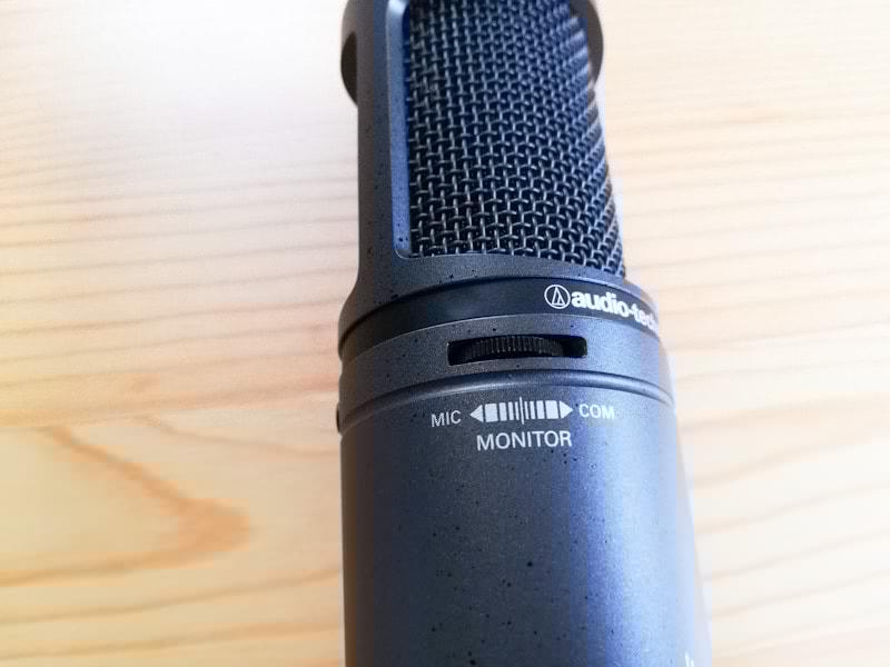 オーディオテクニカのAT2020 USB+のモニター