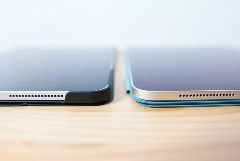 iPad Pro 2020用Smart Folioとサードパーティ製のカバーの比較