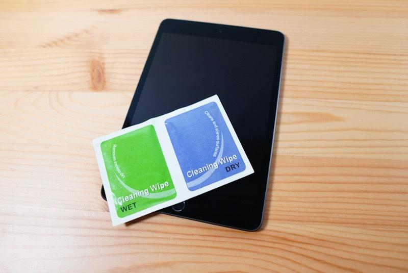 iPad mini用のNimasoのガラスフィルムのクリーニングクロス