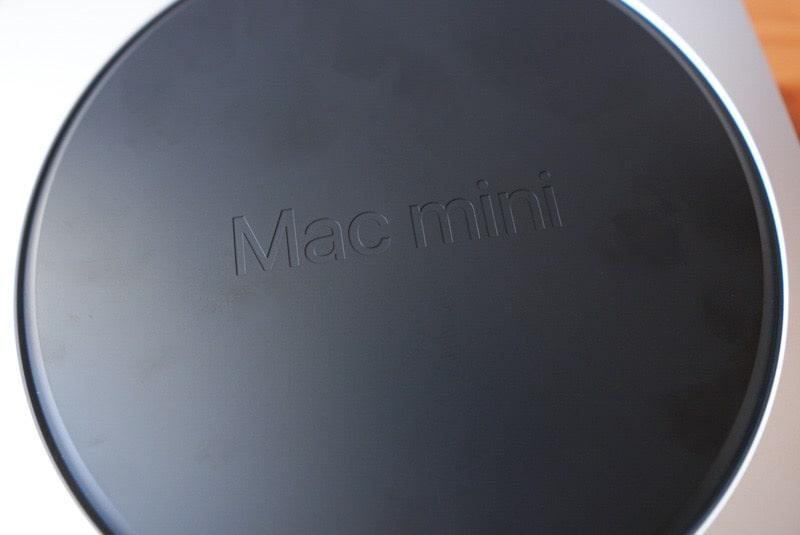 AppleシリコンM1搭載のMac miniの裏面