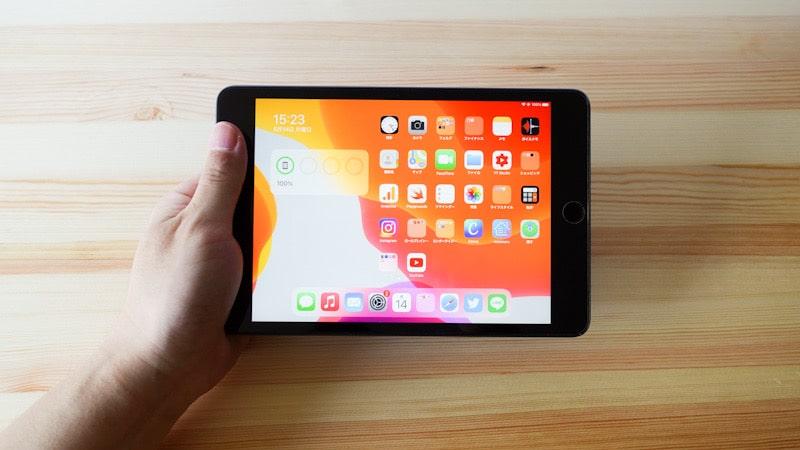 iPad mini 第5世代の手持ち