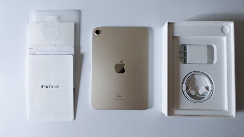 iPad mini 第6世代 2021の内容物