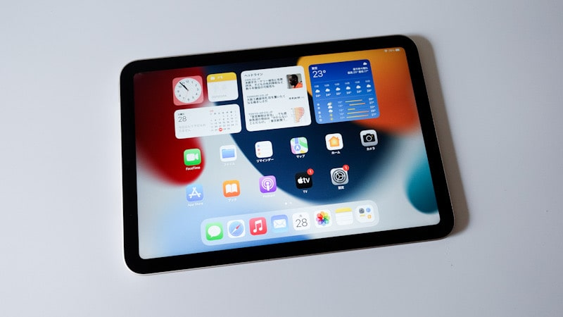 iPad mini 第6世代 2021の画面