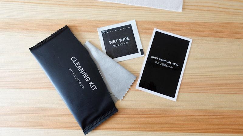 iPad mini第6世代対応のガラスフィルムのクリーニングキット